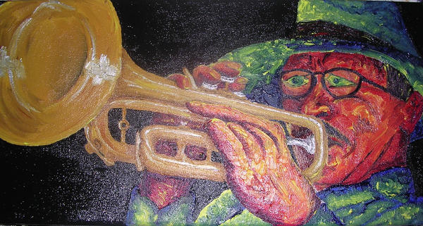 man playing trumpet by SouthpawSam
