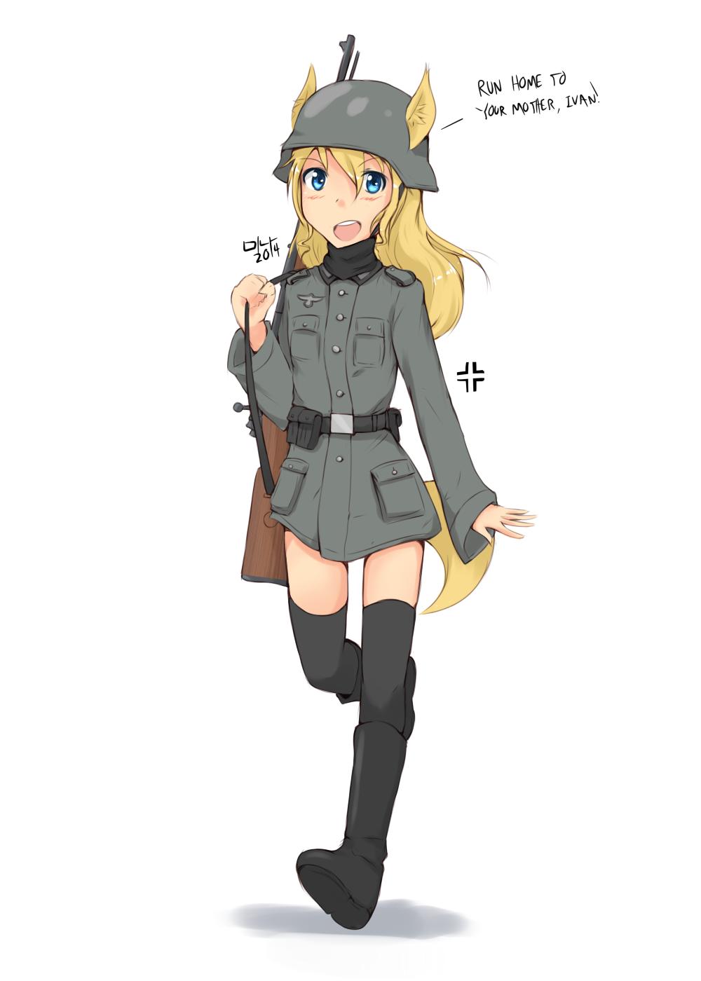 Cat Girl Military Officer