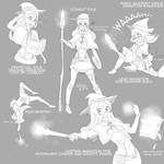 Magic Academy Awilix sketches