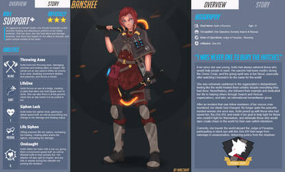 Aoife 'Banshee' o'Davoren | Overwatch OC by BookmarkAHead