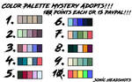Mystery Palette Adopts 1 (5/10) [OPEN] by EspeonAlly
