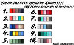 Mystery Palette Adopts 2 (9/10 OPEN) by EspeonAlly