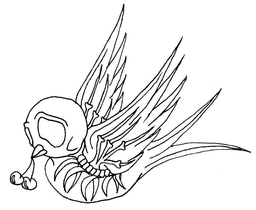 Swallow Tattoo Line Drawing : Swallow by chibipanduh on deviantart
