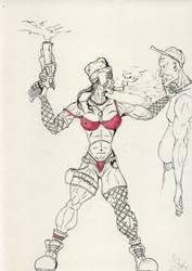 tough girl sketch
