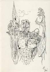 cyborg with big knife