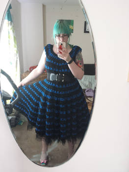 Crochet 1950s dress
