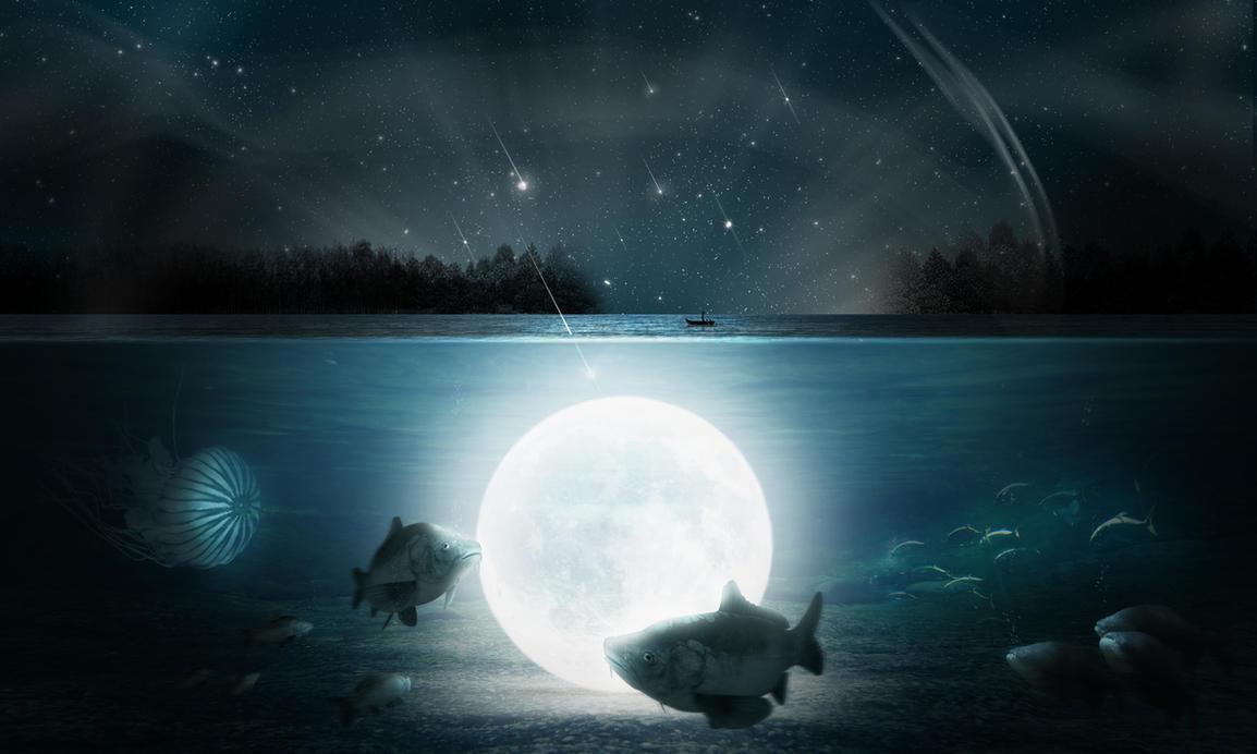 Underwater moon by Alena-48