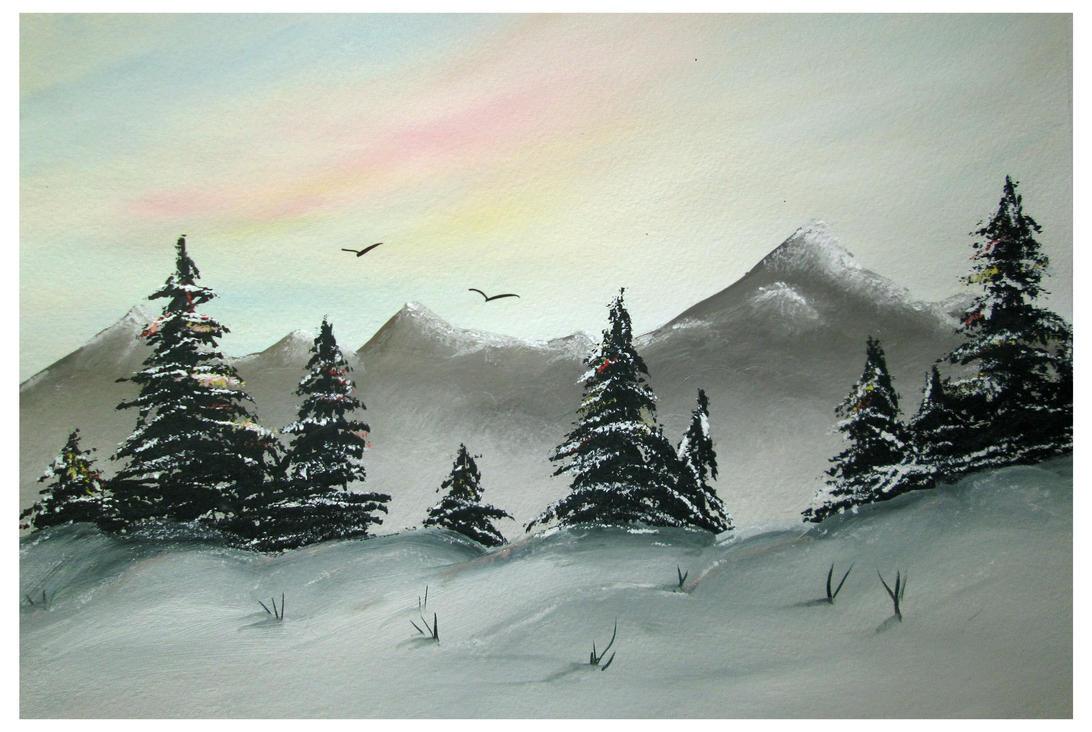 Winter landscape by Alena-48