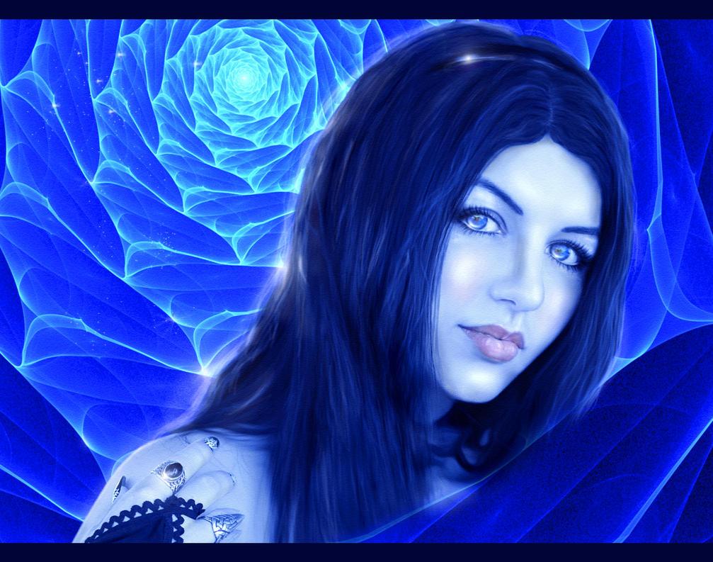 Blue rose by Alena-48