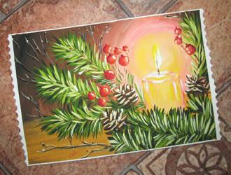 Postcard Happy new year by Alena-48