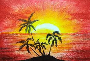Sunset sea by Alena-48