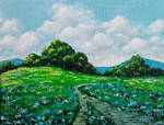 Sunlit Meadow Landscape