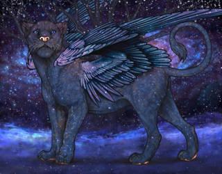 Interstellar winged lioness by UnicornLover2500