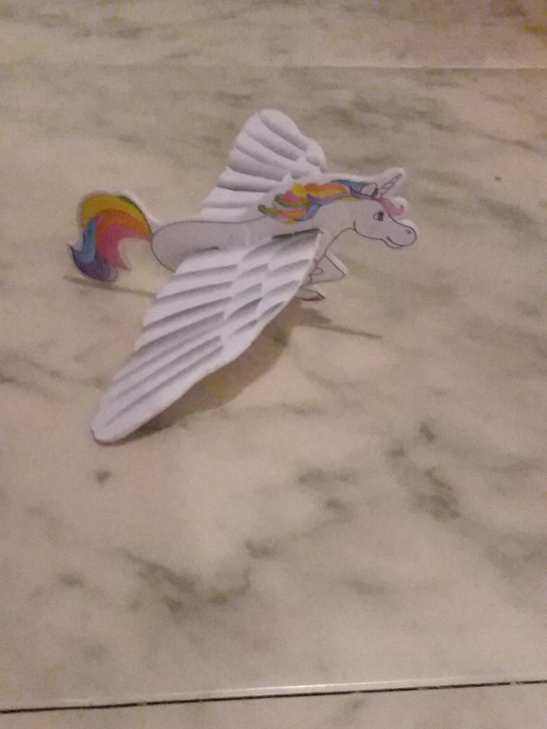 My Rainbow Unicorn Glider  by UnicornLover2500