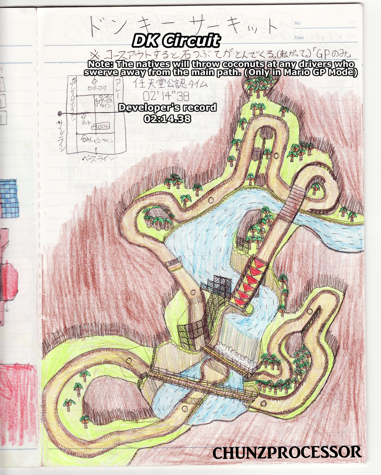 DK Circuit (My Original Race Track for Mario Kart) by chunzprocessor