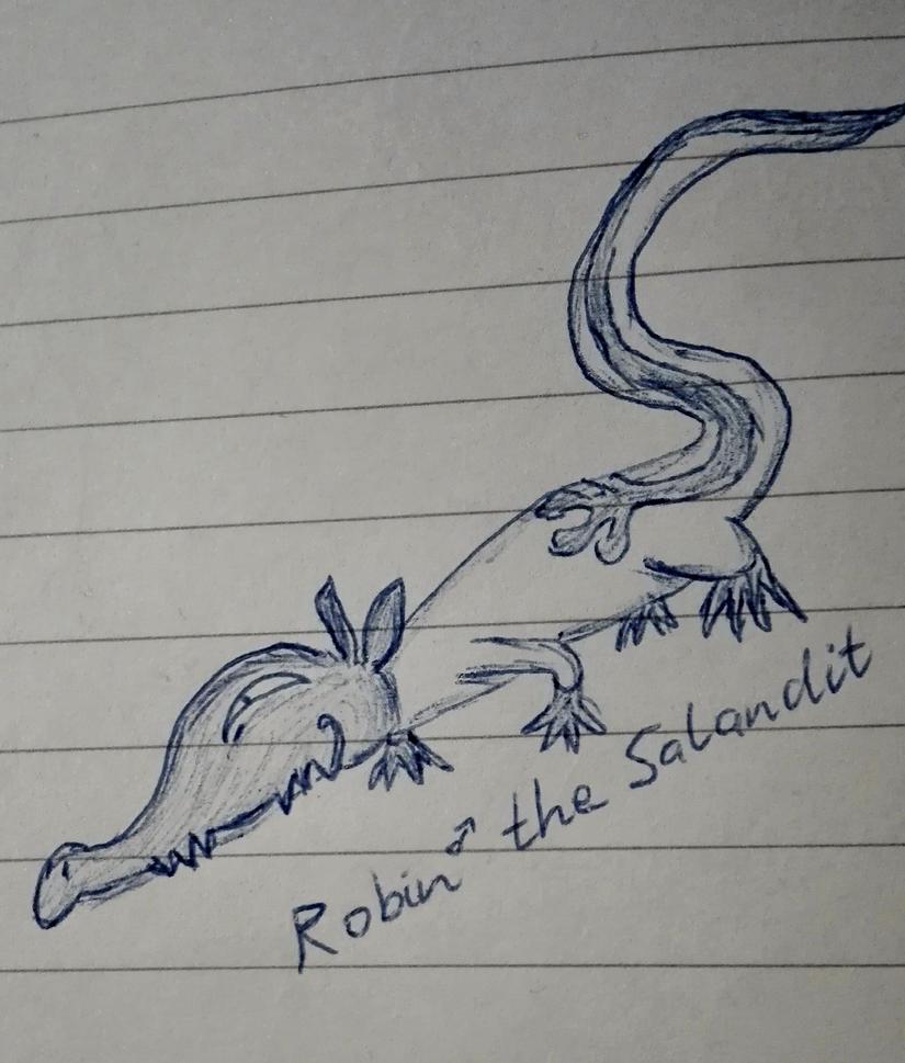 Pokeumans - Robin the Salandit by dfhsuaifjn
