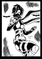 CASSANDRA CAIN pencil by Phil Moy inking by me by jbellcomic
