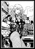 BLACK CANARY pencil by Leandro ink by me by jbellcomic