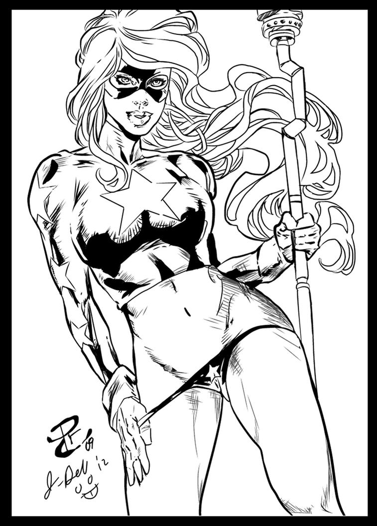 STARGIRL  penciling by RENATO CAMILO ink by me by jbellcomic
