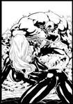 Venom vs Black Cat By Diego ink by me