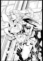 SUPERGIRL BY Diego Bernard ink by me by jbellcomic