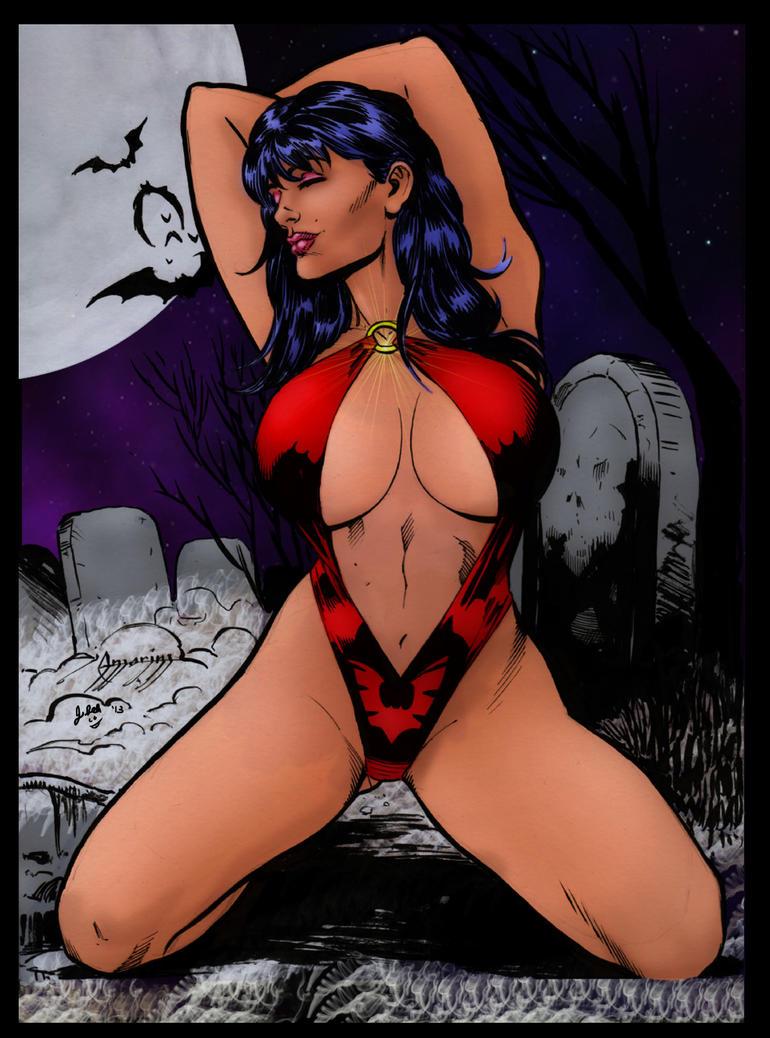 Vampirella by Di Amorim coloring by me by jbellcomic