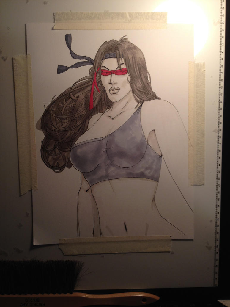 Oni copic  by jbell by jbellcomic