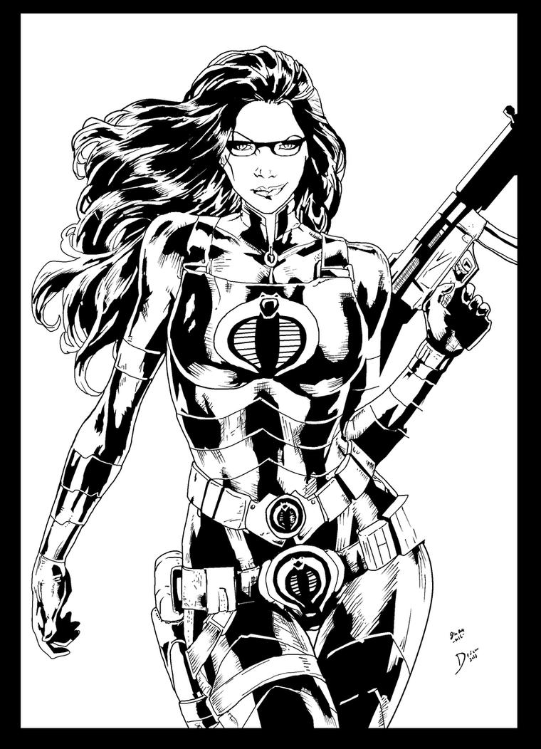 Baroness By Deilson ink by me by jbellcomic