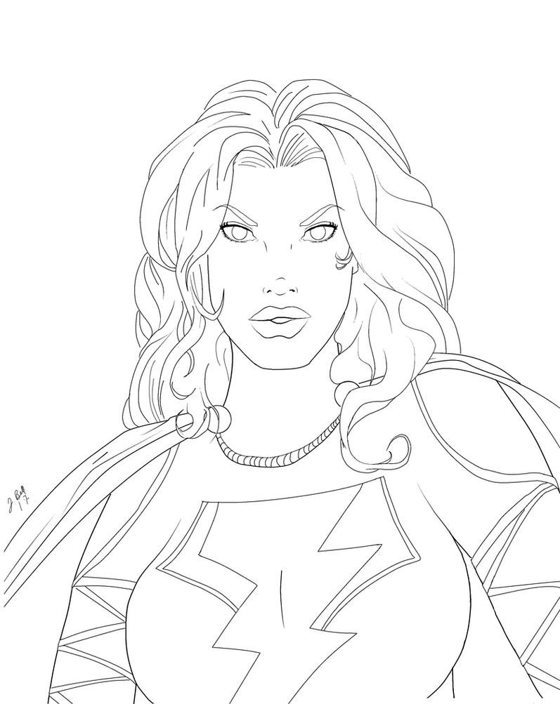 Mary Marvel by me by jbellcomic