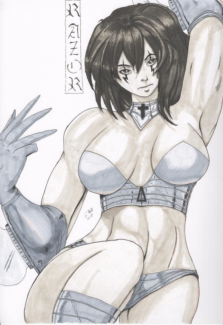 Razor Copic by jbell by jbellcomic