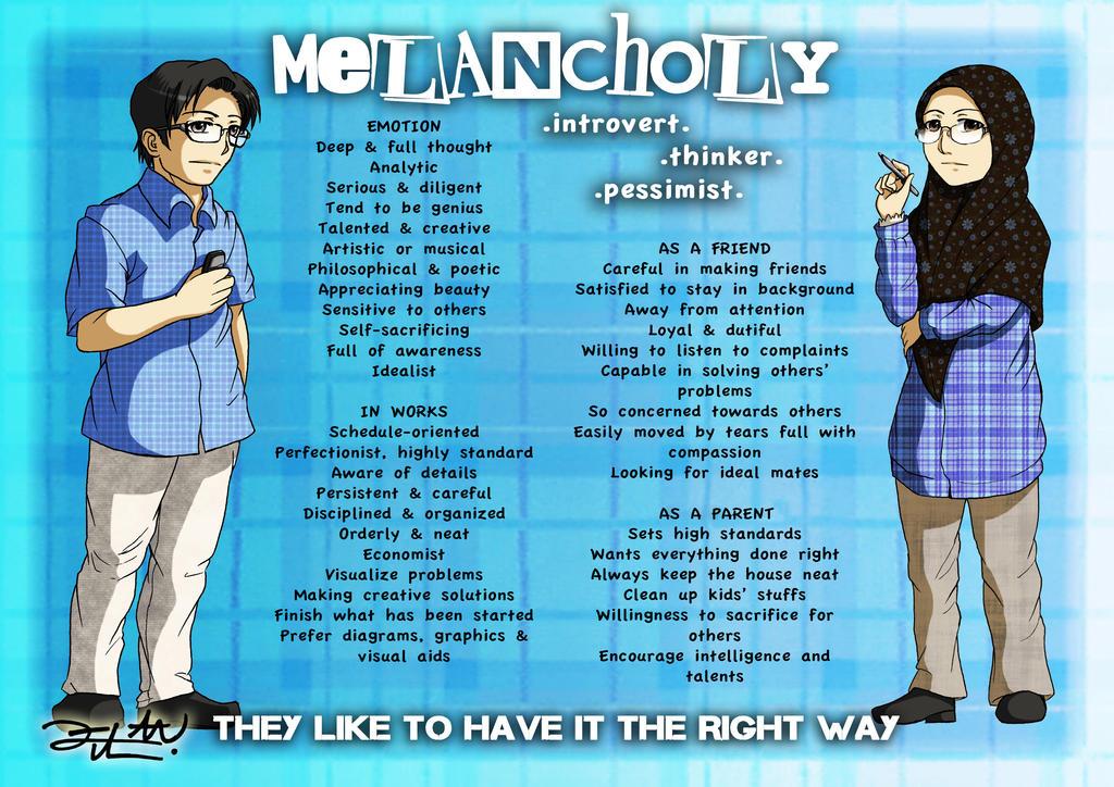 Personality plus melancholy