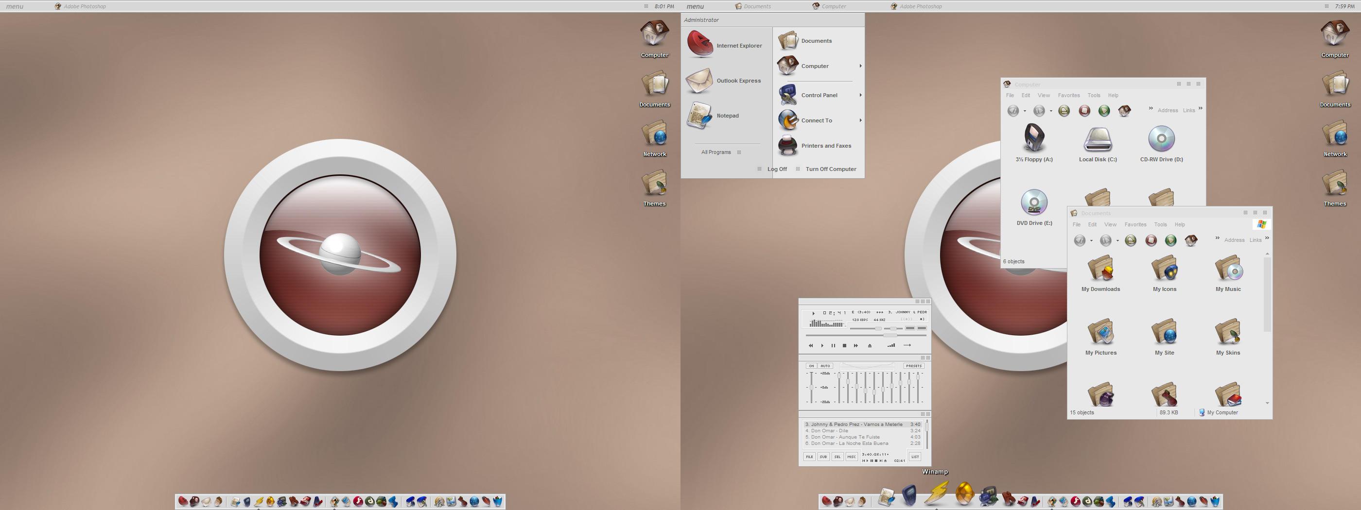My GreyScale Desktop by javierocasio