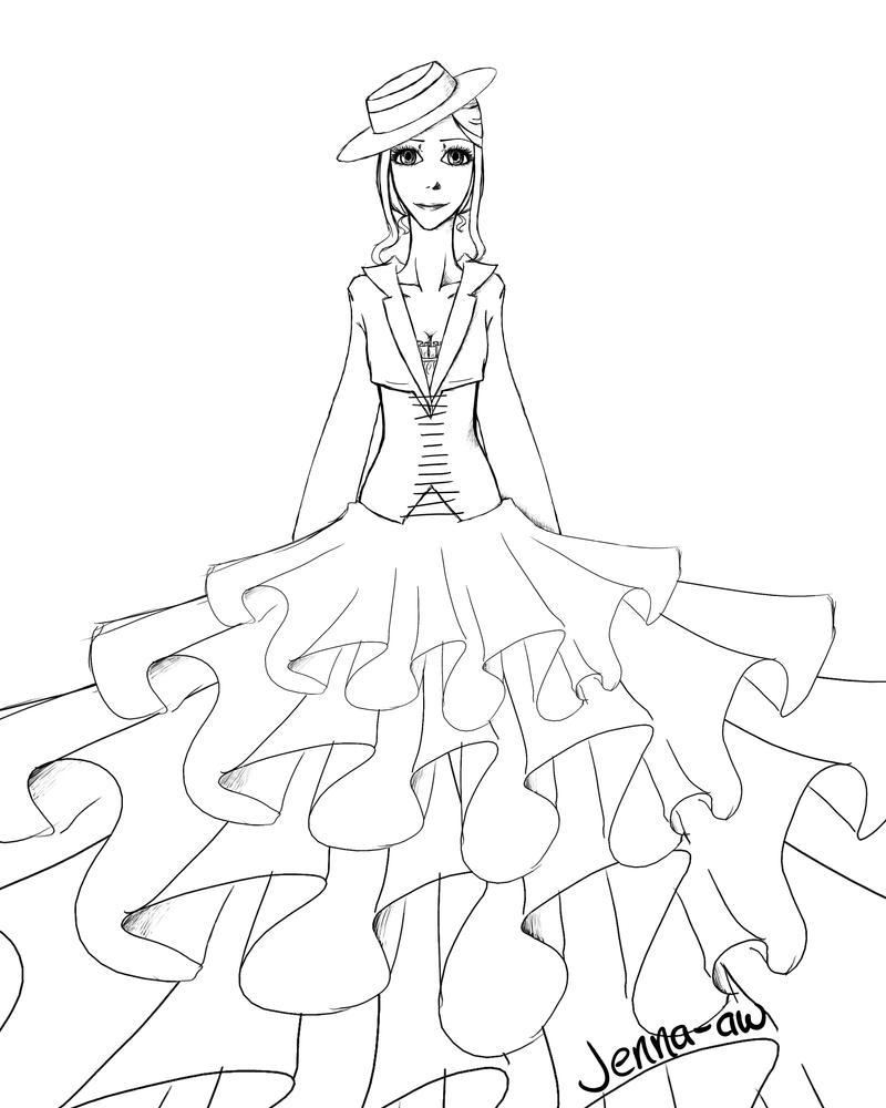 Poofy Dress lol by jenna-aw