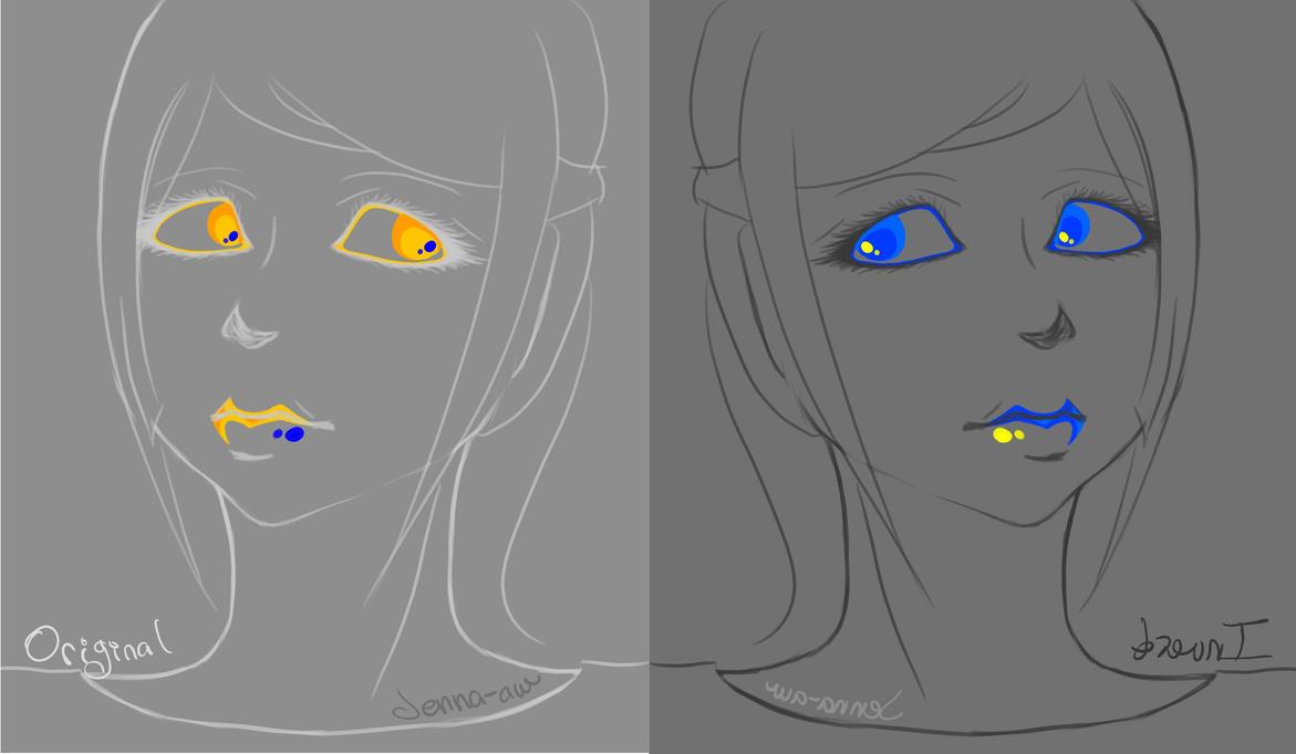 Orange and Blue by jenna-aw