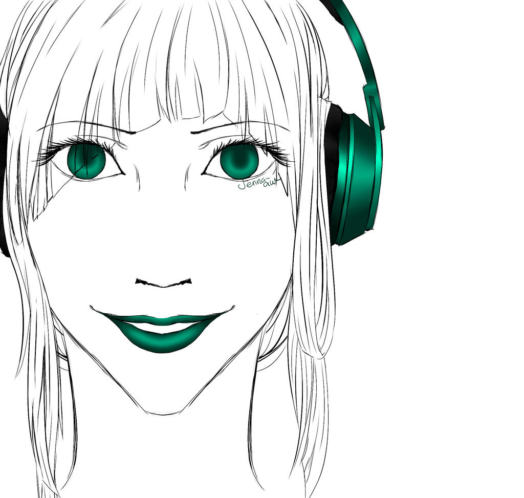 Headphones by jenna-aw