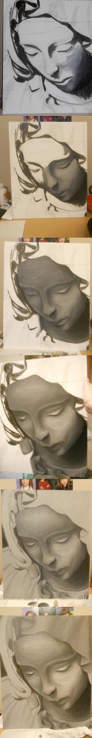 Michelangelo's Pieta by jenna-aw