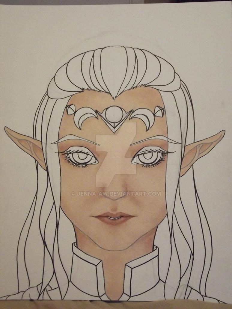 Zelda WIP by jenna-aw