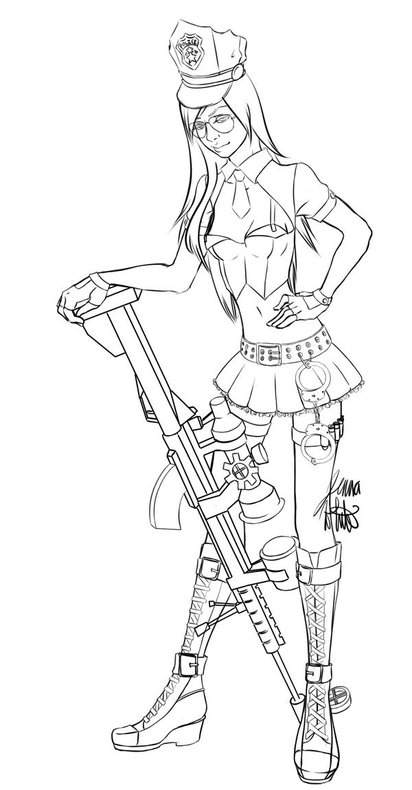 Officer Caitlyn by jenna-aw