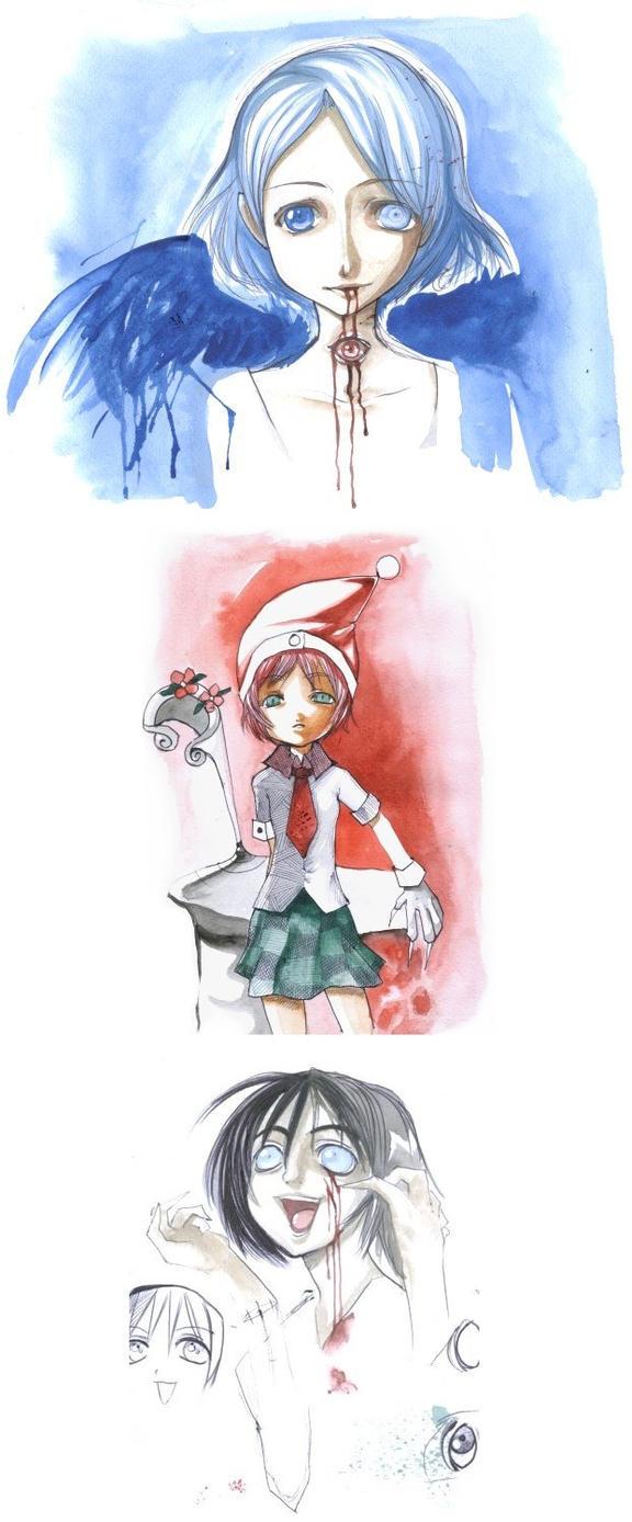 watercolour doodles by Murata