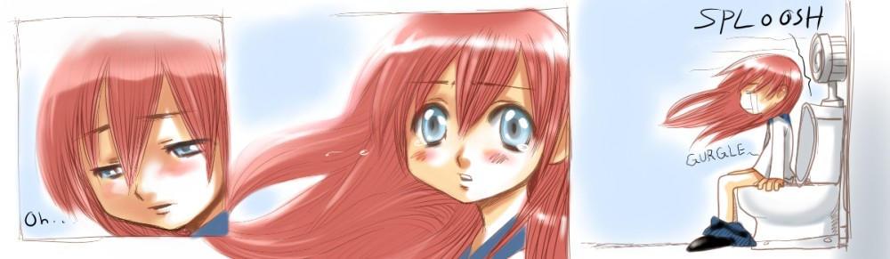 Anime Girl On Toilet