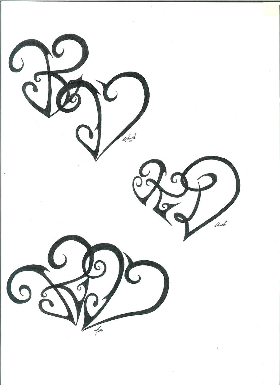 k and d heart tattoo designs by melloteddy on deviantart. Black Bedroom Furniture Sets. Home Design Ideas