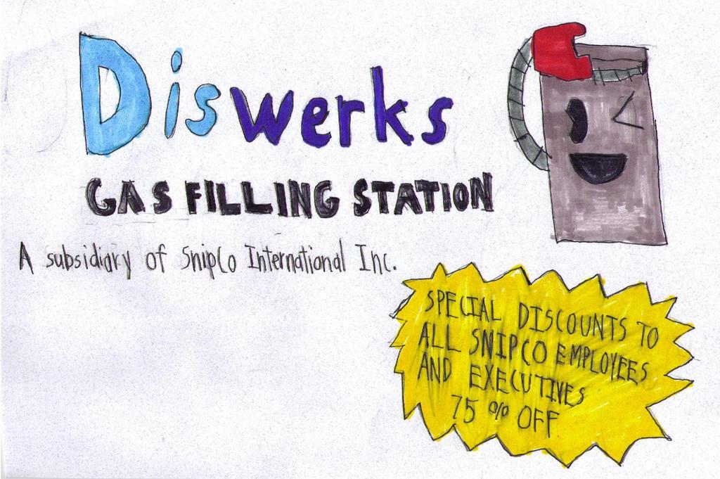 Diswerks Gas Filling Station logo by FireshockerBill