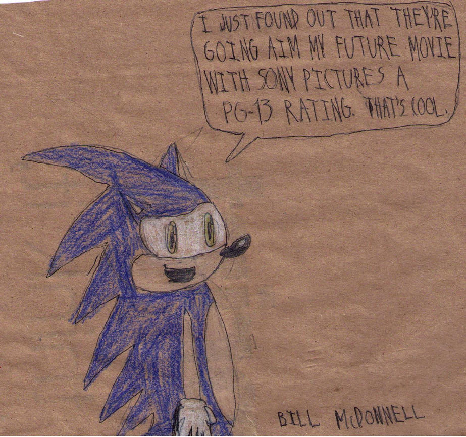 Sonic On The Rating On His Movie by FireshockerBill