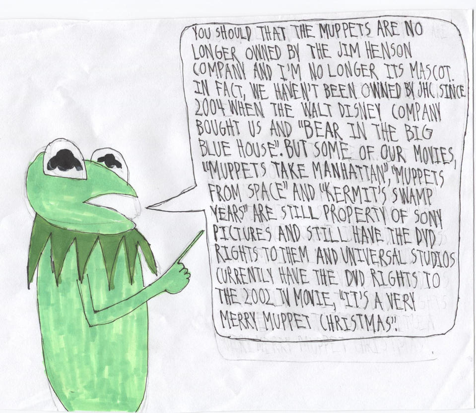 Kermit On The Muppets\' Ownership by ElectricStormFire86 on DeviantArt