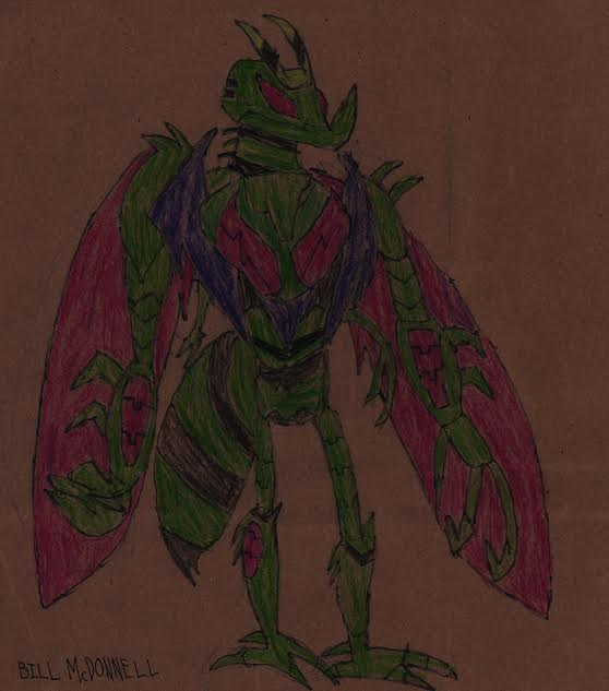 Waspinator Animated (brown paper bag drawing) by HazardFire715