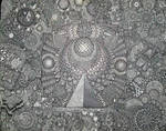 OMEGAPOINT SACRED GEOMETRY 300HR SHARPIE DRAWING