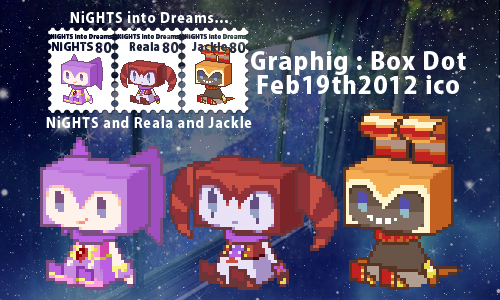 NiGHTS and Reala and Jackle - Graphig : Box Dot by supply
