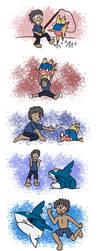 Pokemon - A Boy and His Sharpedo by PrincessHannah