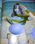 Gassy pregnant blueberry Kairi Sane