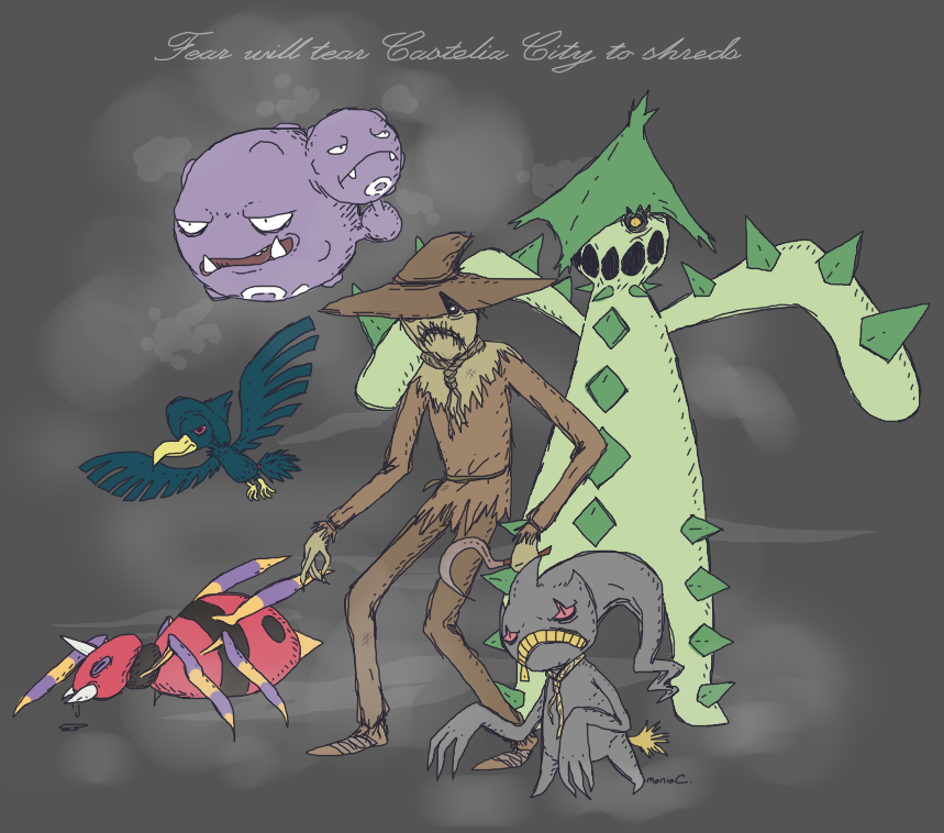 Scarecrow's Pokemon Team by StapledSlut